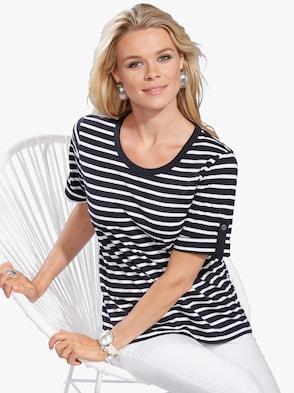 Shirt - marine-geringelt