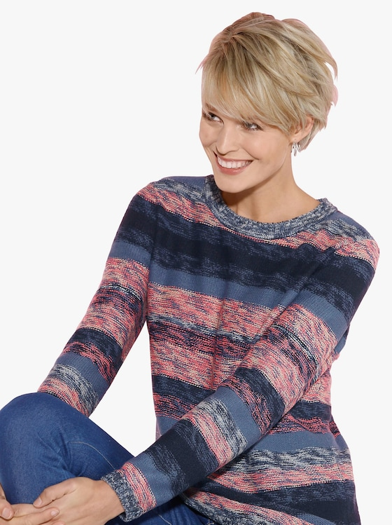 Pullover - roze gestreept