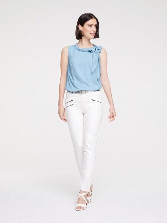 Linea Tesini Bauchweg-Jeans - offwhite