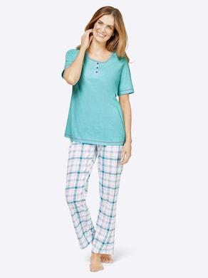 wäschepur Schlafanzug - aquamarin