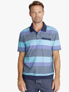 Poloshirt - blauw gestreept
