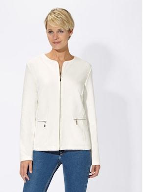 Collection L Jersey-Blazer - weiß