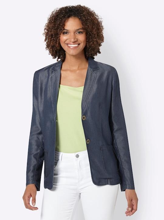 Collection L Blazer - jeansblau