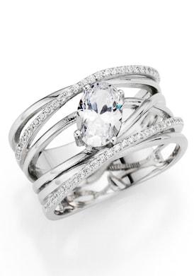 Firetti Zilveren ring - zilverkleurig/kristalwit
