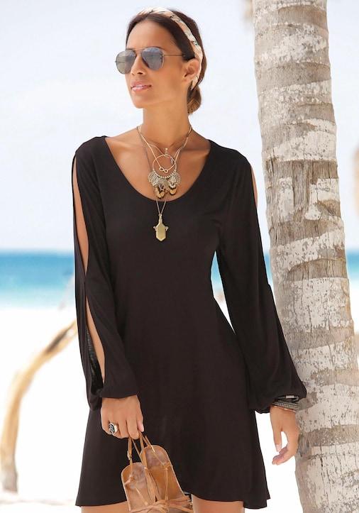 LASCANA Longshirt - schwarz