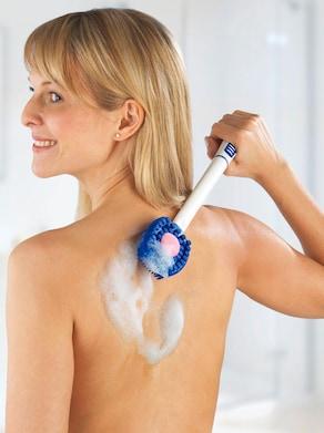 Pflegebürste - weiß-blau
