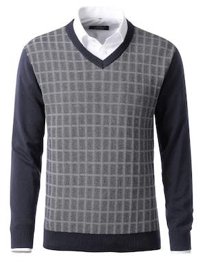 Pullover - marine-ecru
