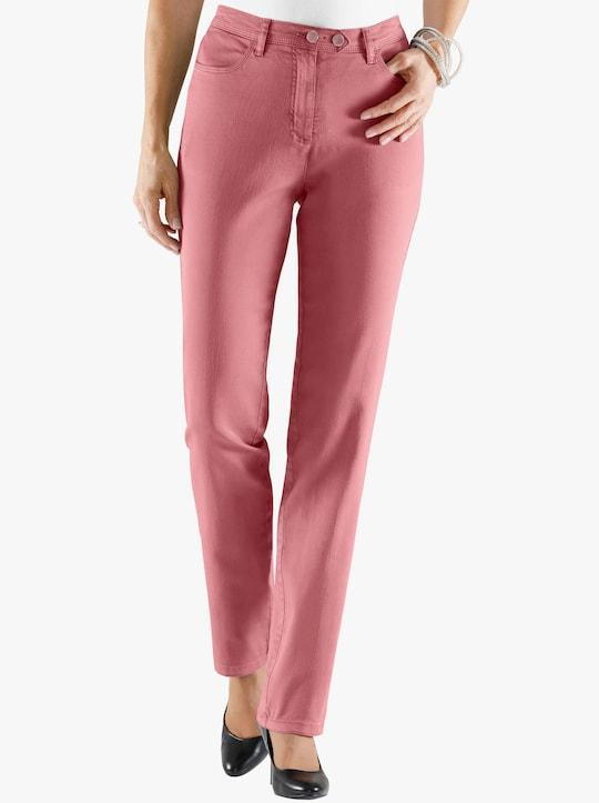 Jeans - zalmrood