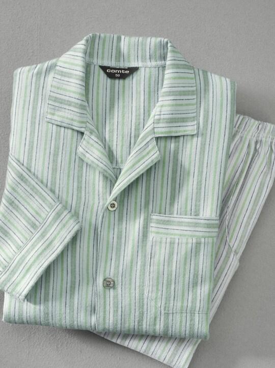 Comte Pyjama - grün-gestreift