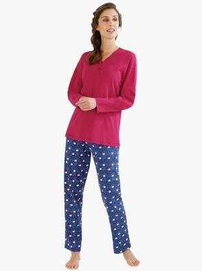 Schlafanzug - pink-marine