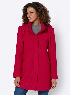 Collection L Woll-Jacke - rot