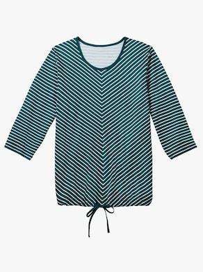 Capri pyžamo - petrolejová-bílá