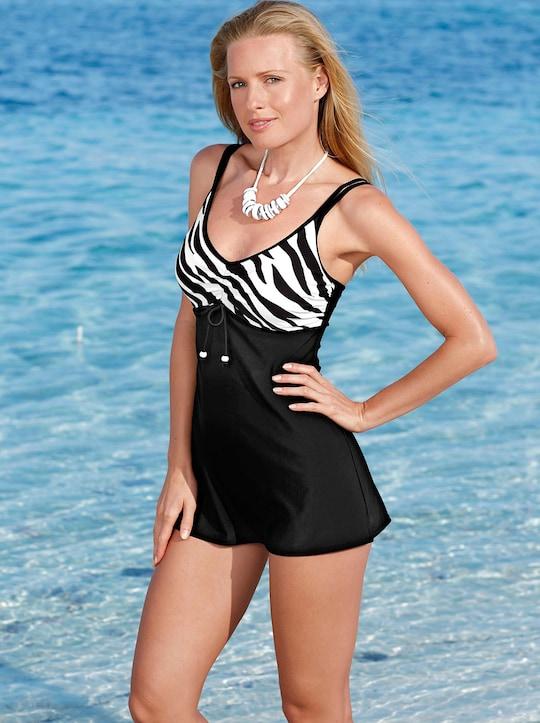 feel good Badeanzug - schwarz-weiß