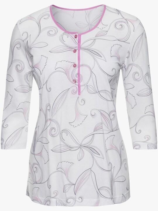 Ascafa Schlafanzug - rosé-bedruckt