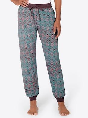 wäschepur Schlafanzug-Hose - smaragd-rosé