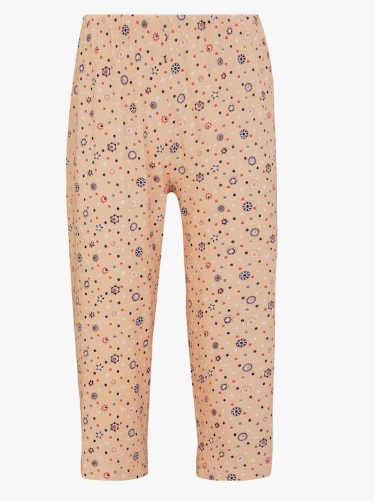 Schlafanzug-Hose - apricot-bedruckt