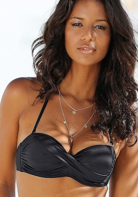LASCANA Bandeau-Bikini-Top - schwarz
