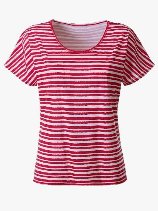 Collection L Shirt - rot-gestreift