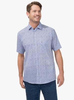 Kurzarm-Hemd - blau-weiß-gestreift