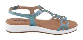 heine Sandalen - turquoise/metallic