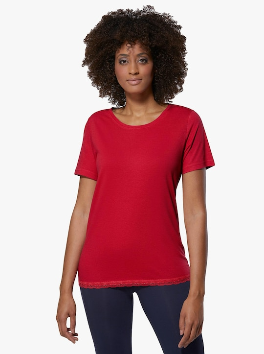 wäschepur Schlafanzug-Shirt - erdbeere