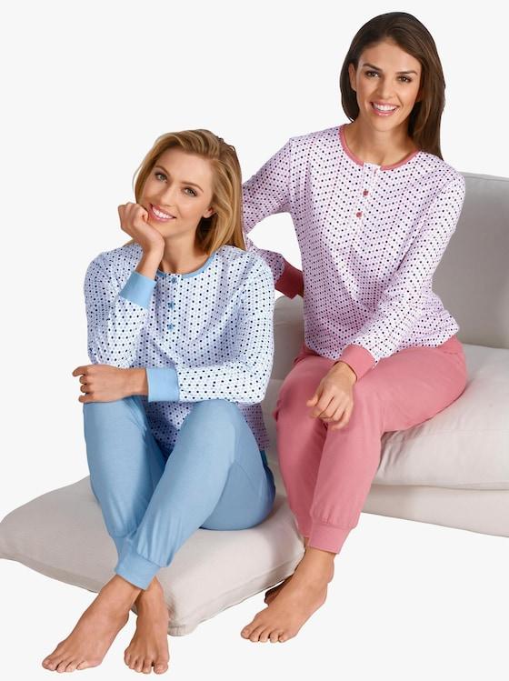 wäschepur Schlafanzüge - bleu + erika