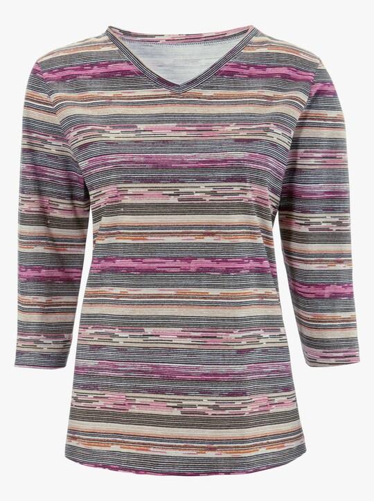 Shirt - heide gestreept