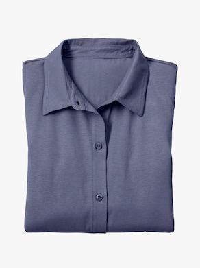 Žerzejová halenka - džínová modrá