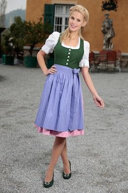 H. Moser Dirndl - grün-rosa-lila