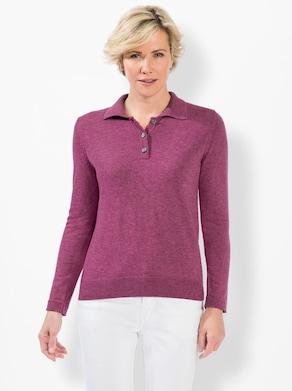 Pullover - mauve-meliert