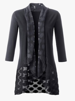 Fair Lady Shirtjacke - schwarz