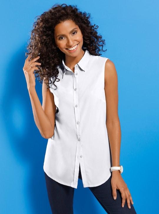 Mouwloze blouse - wit
