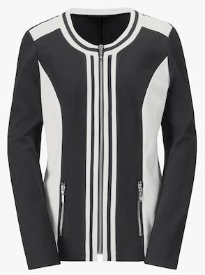 Shirtjacke - schwarz-weiß