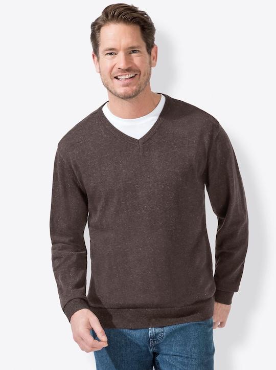 Catamaran Sports Pullover - braun-meliert