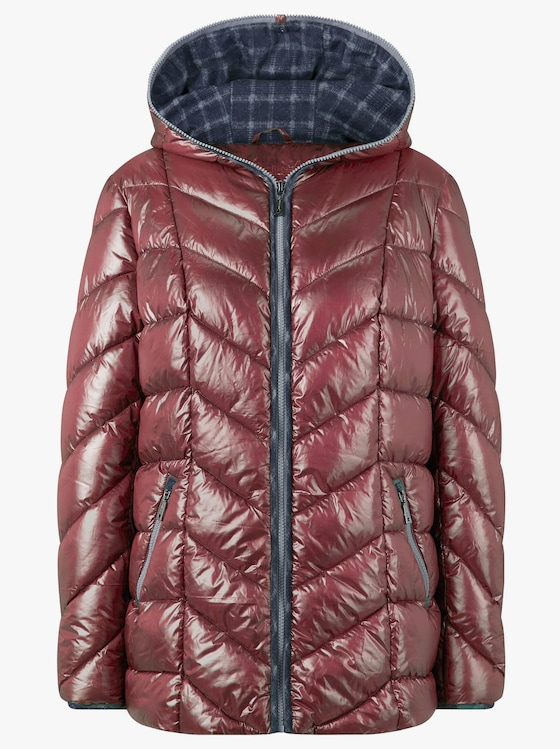 Collection L Jacke - himbeerrot