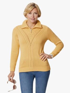 Pullover - vanillegelb