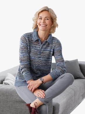 Pullover - bleu gedessineerd