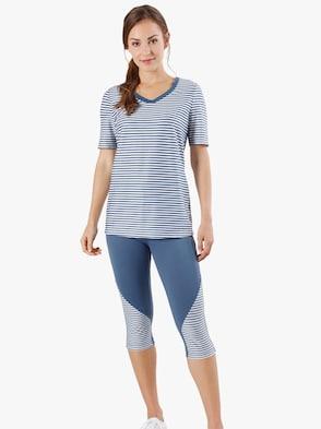 Voľnočasové tričko - modrá priečne pruhovaná