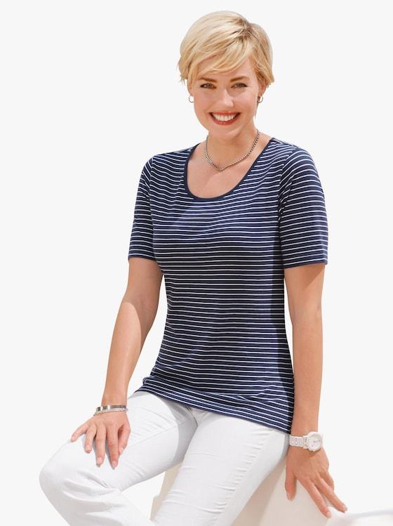 Shirt - marine-weiß-gestreift