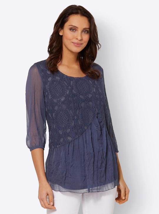 Fair Lady Bluse - nachtblau