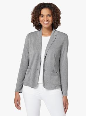 Jersey-Blazer - grau-meliert