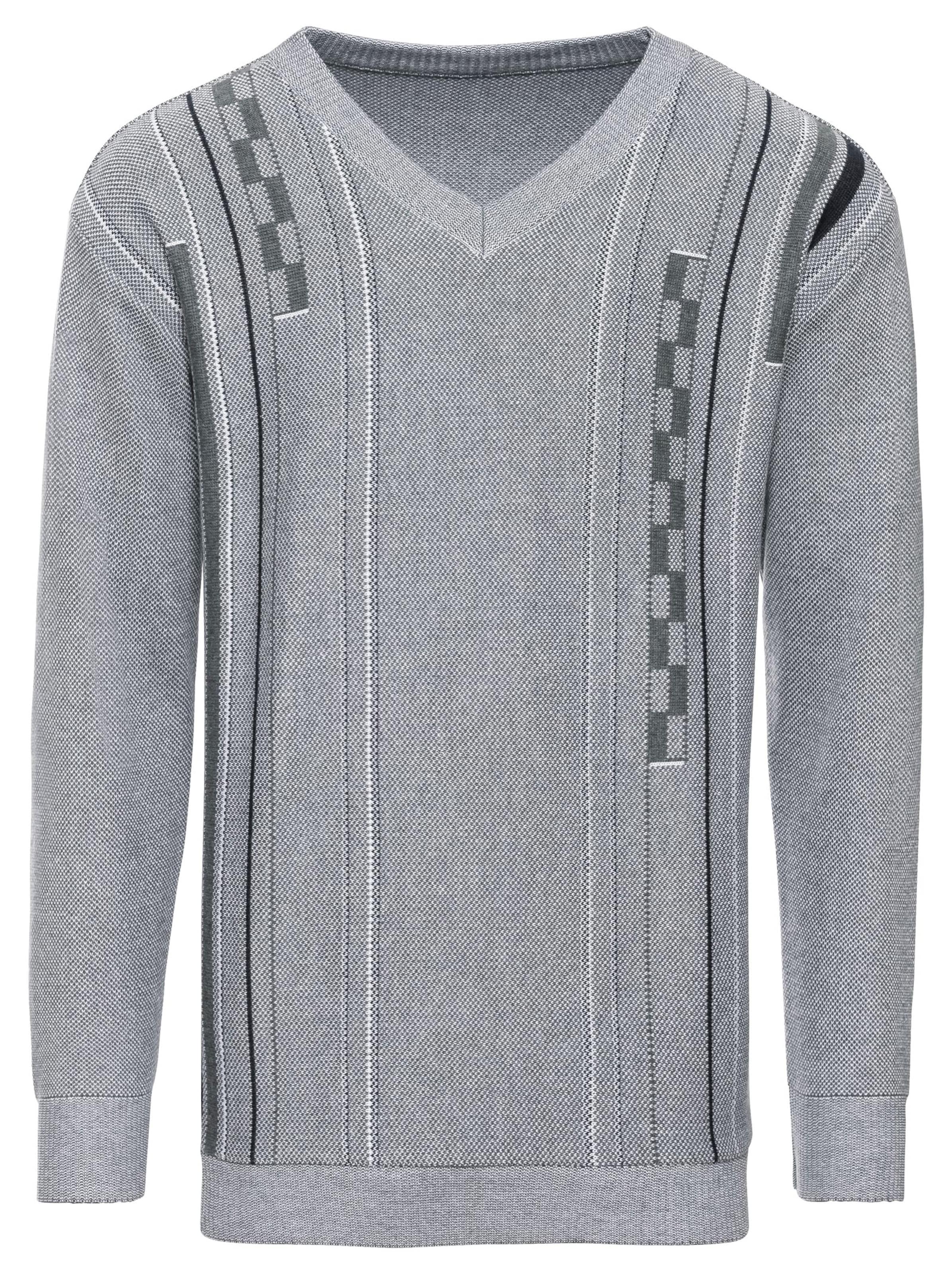 witt weiden - Herren Pullover grau-gemustert