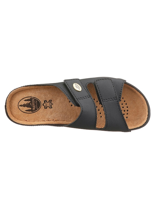 Franken Schuhe Pantolette - schwarz
