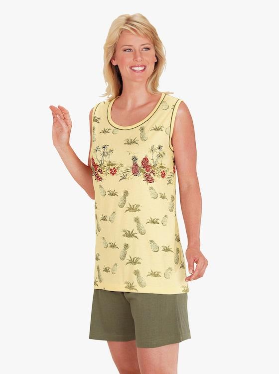 Top Ten Krátké pyžamo - žlutá-potisk