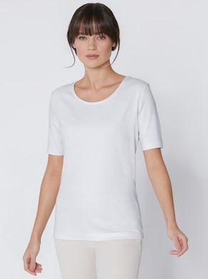 CREATION L PREMIUM Baumwoll-Shirt - weiß