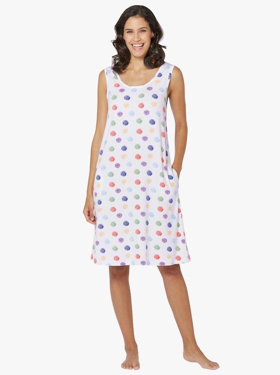 Sommerkleid - weiß-bunt-bedruckt