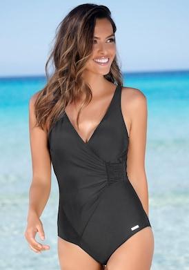 LASCANA Badeanzug - schwarz