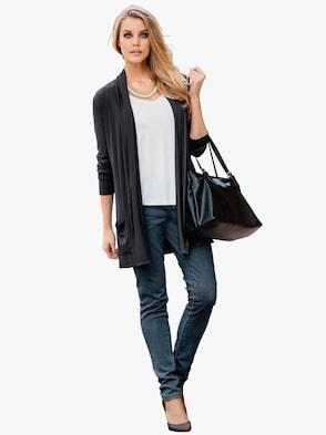 Shirtjacke - schwarz