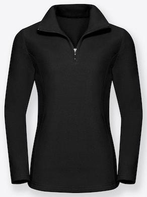 Fleece-Shirt - schwarz