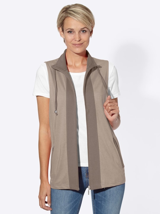 Collection L Shirtweste - taupe